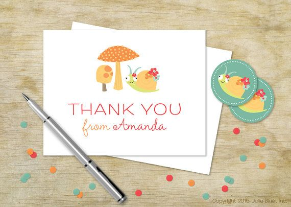 A thank you is more than just a two-word phrase. Make it memorable with this card from the Julie Bluet Etsy!
