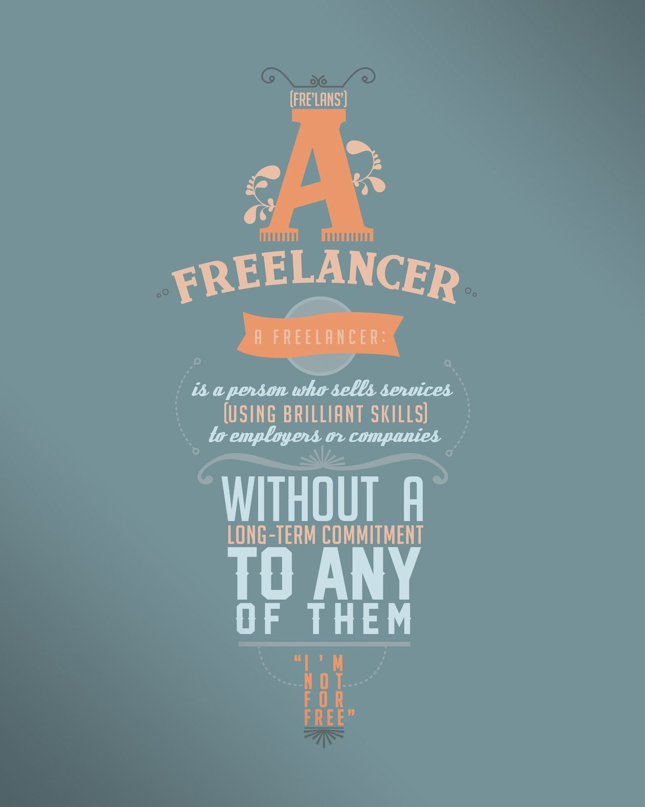 Amazing Typographic Quote Poster {multiple typefaces} // I