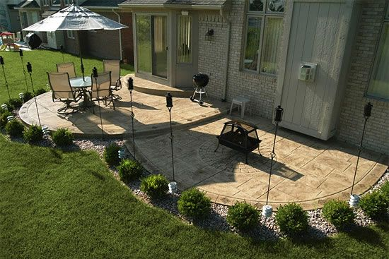 Tiled Patio Outdoors In 2019 Concrete Patio Designs Patio