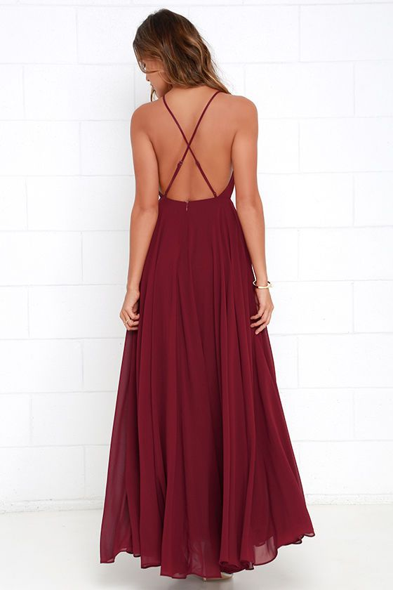c941413a0ac7c7 Lulus   Mythical Kind of Love Wine Red Maxi Dress   Size Large   100 ...