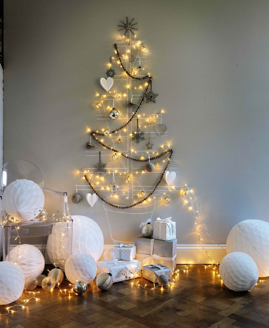 Delightful Alternative Christmas Party Ideas Part - 10: Decorating Amazing Alternative Christmas Tree Lights With White Big  Christmas Balls Ornament Unique Ideas For Alternative