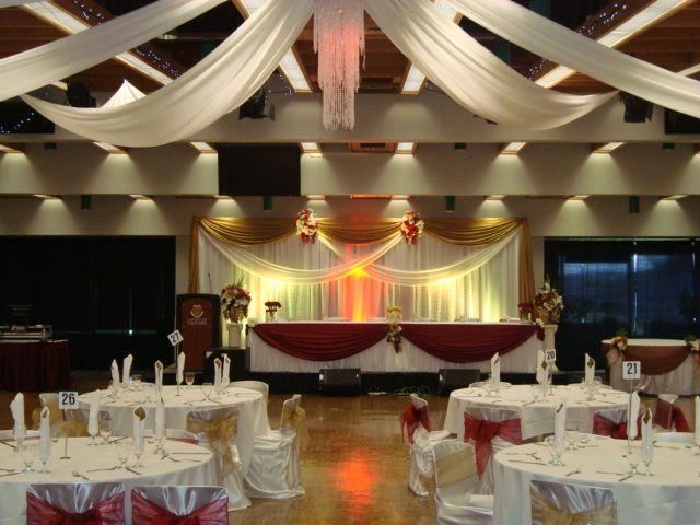Banquet hall decorations wedding reception decoration for Party hall decoration ideas