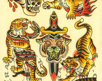 traditional tattoo fla...