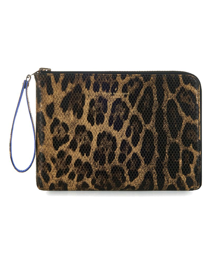 Mini Fleur Reversible Clutch Bag Leopard by Paul's Boutique
