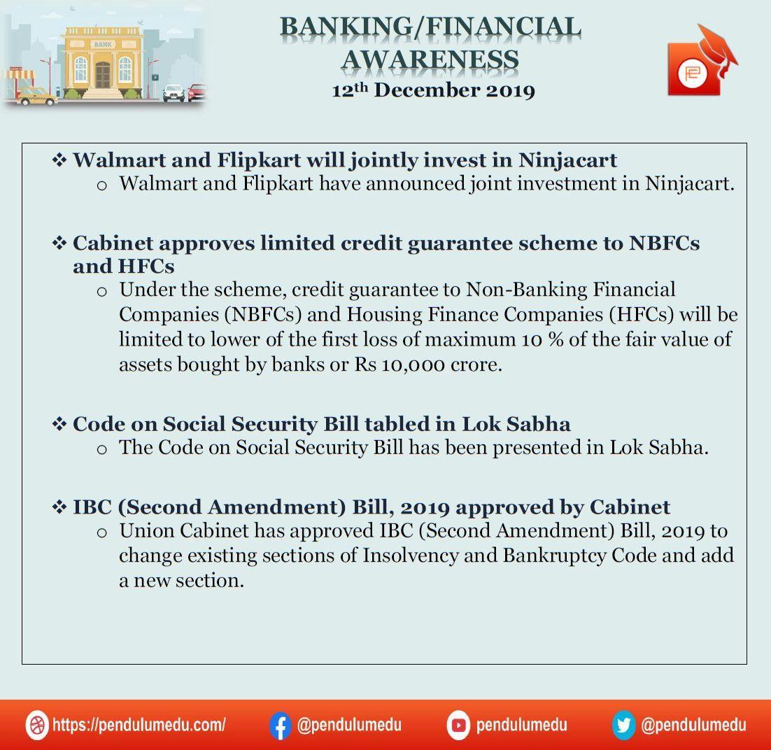 Banking Financial Awareness 12th December 2019 Banking Financial Awareness