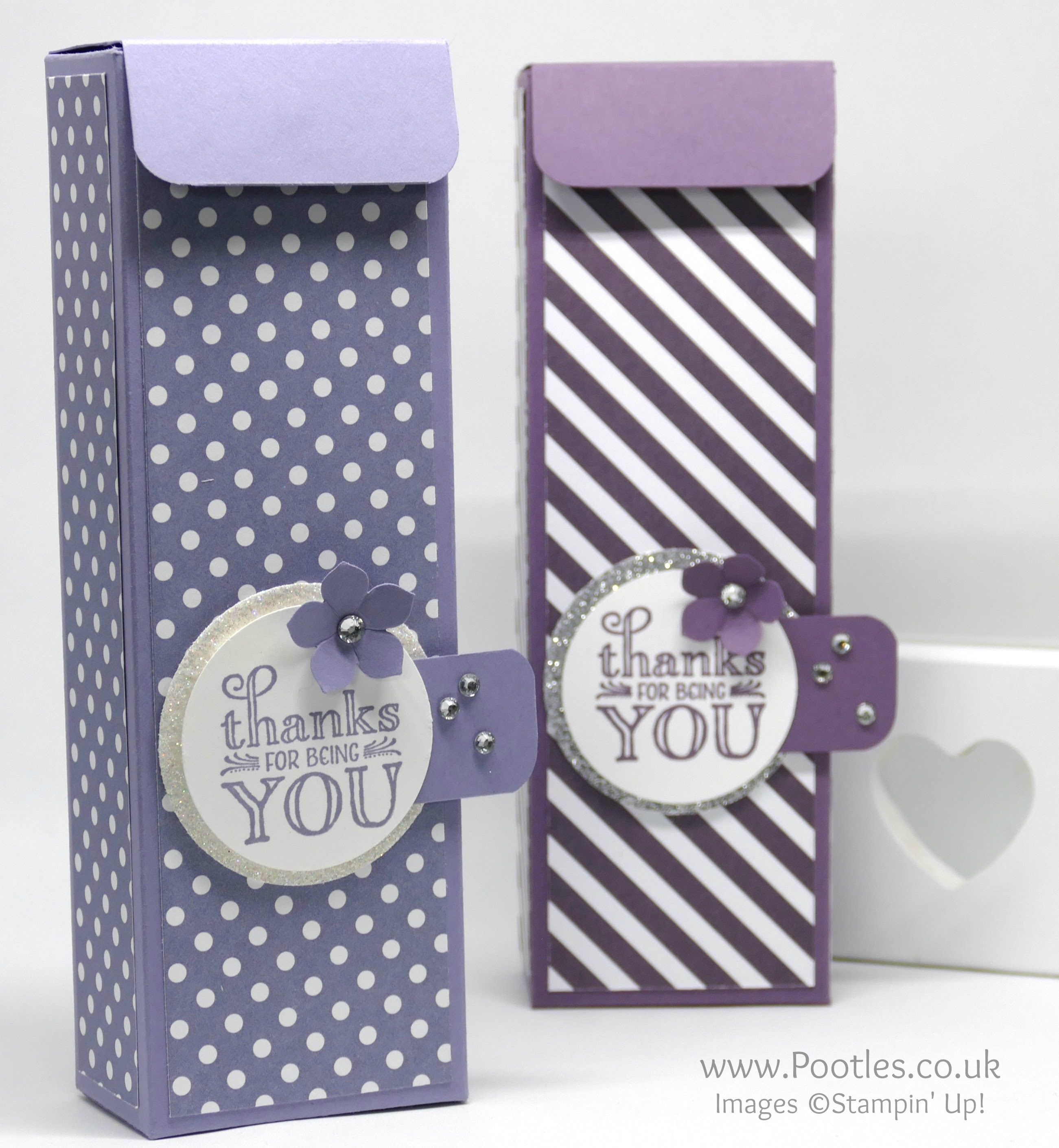 Tall Cute Box using Stampin' Up! Me = Grateful Stamp Set