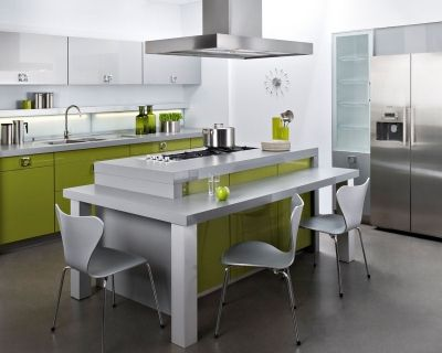 ilot central darty | reno cuisine | Pinterest | Kitchens and Spaces