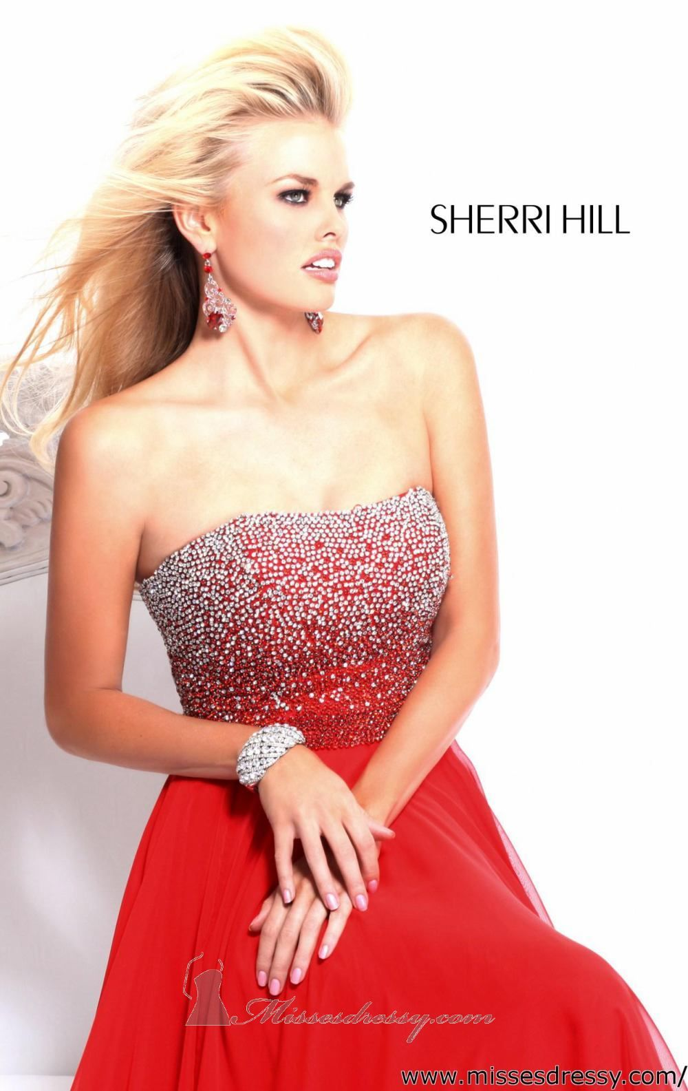Strapless long dress by sherri hill uxui designer dresses and