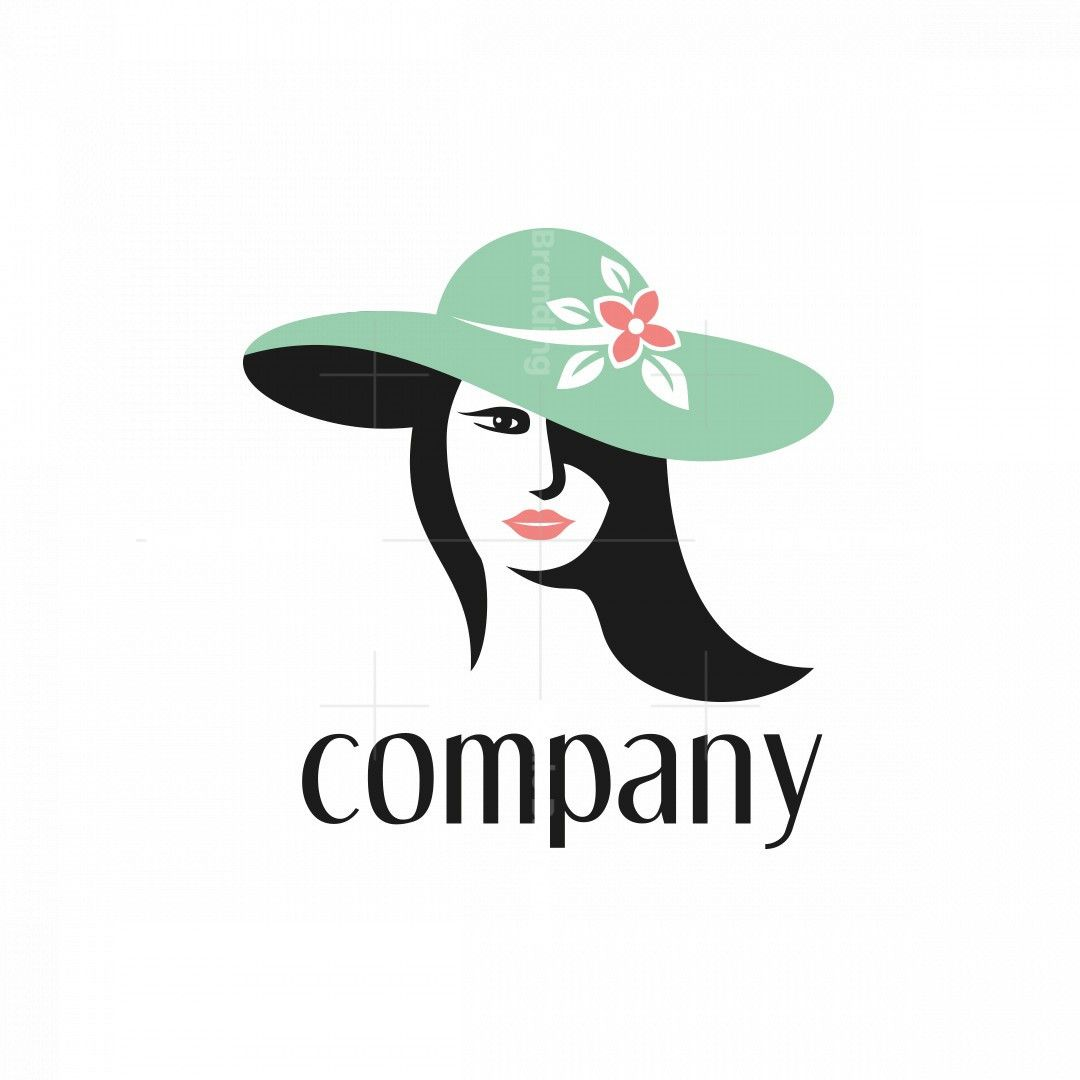 Lady In A Green Hat Logo In 2021 Green Hats Logo Summer Hats
