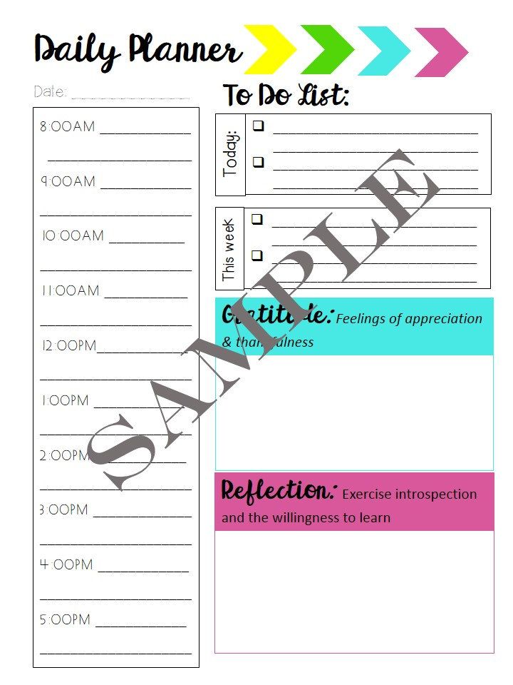 Planner Template Bundle Agenda settimanale, Planner e Nota - meeting scheduler template