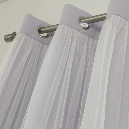 Sheer Thermal Blackout Grommet Curtains Set Of 2 Simple Curtains Curtains Homemade Curtains