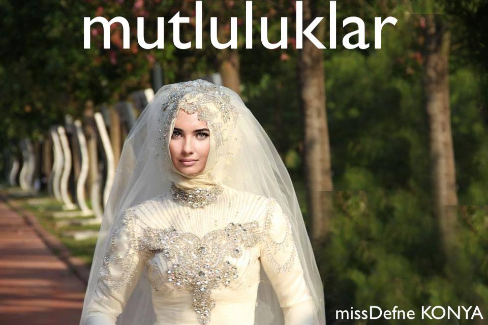 MUTLULUKLAR DILERIZ tesettur gelinlik missDefne KONYA Size ozel dikim #tesettur #gelinlikler #gelinlik #kapali #hijab #esarp #basortu #nisanlik #konya #karaman #aksehir #beysehir #seydisehir #cihanbeyli #cumra #kulu #bardas #alanozu #guneysinir #bozkir #ermenek #akoren #ask #rumi #moda #love #wedding #dresses #bridal #fashion