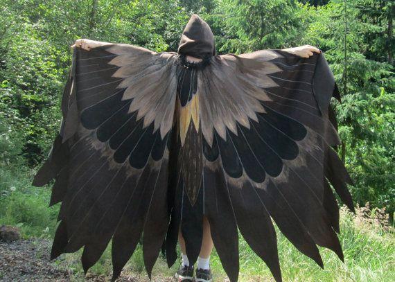 Golden Eagle Wings enfant cape costume robe fantaisie
