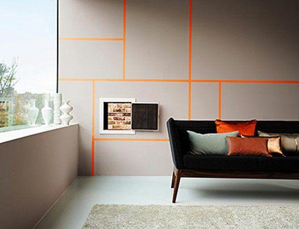 Fesselnd Wandfarbe Grau   Eine Immer üblichere Lösung Bei Der Innengestaltung Stellt  Die Kombination Von Grauen Wänden Mit Gelben Kunstwerken, Möbeln Und  Accessoires
