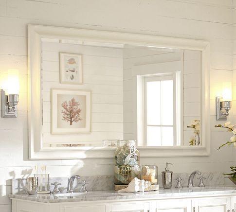 Sonoma Double Width Mirror Pottery Barn Bathroom Bathroom