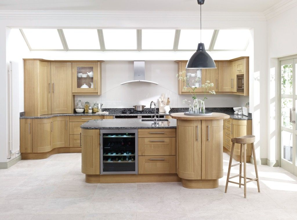 Trend Light Solid Oak Shaker Painted Ivory Kitchen Worktop Winchester Hampshire