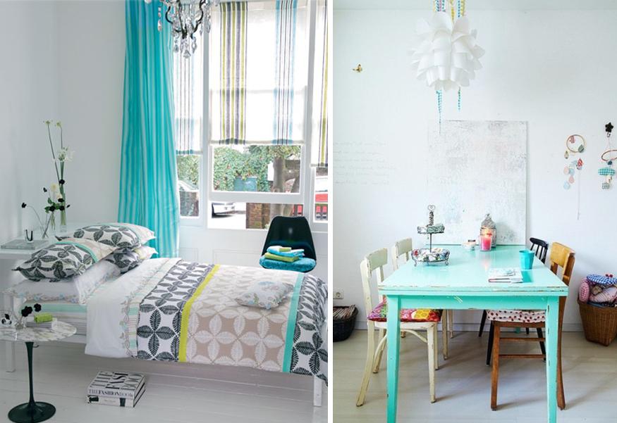 20 idées turquoise pour la maison | Rideau chambre, Deco turquoise ...