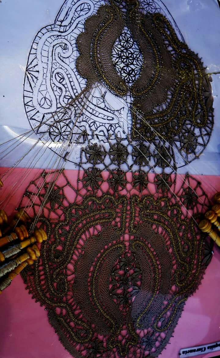 Pin von Helga Turkovskaya auf Bobbin lace   Pinterest   Klöppeln und ...