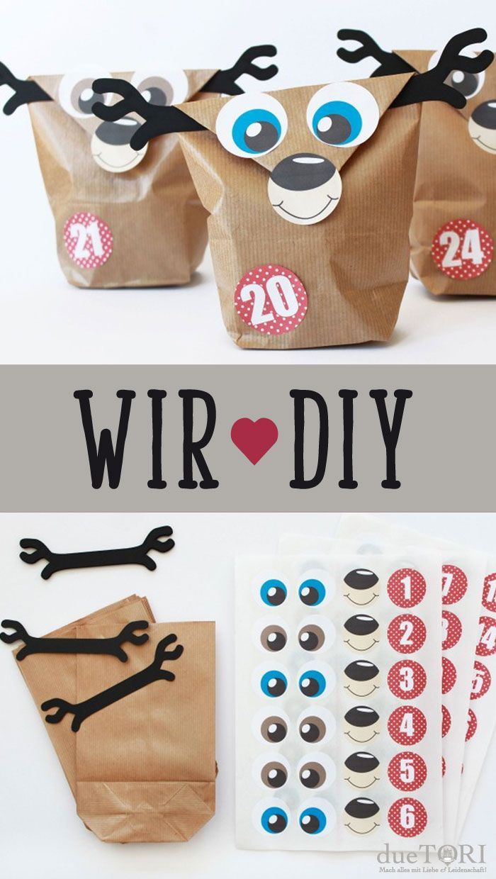 DIY Adventskalender Set Rentier