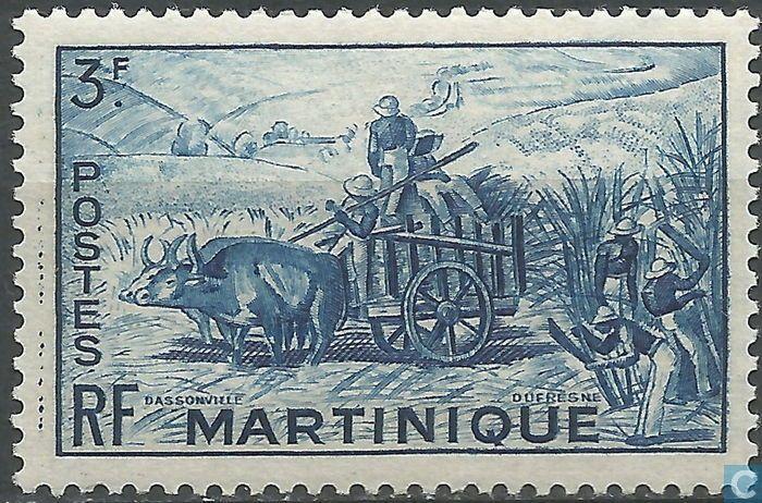 Martinique Suikerplantage 1947 Martinique, Outre mer