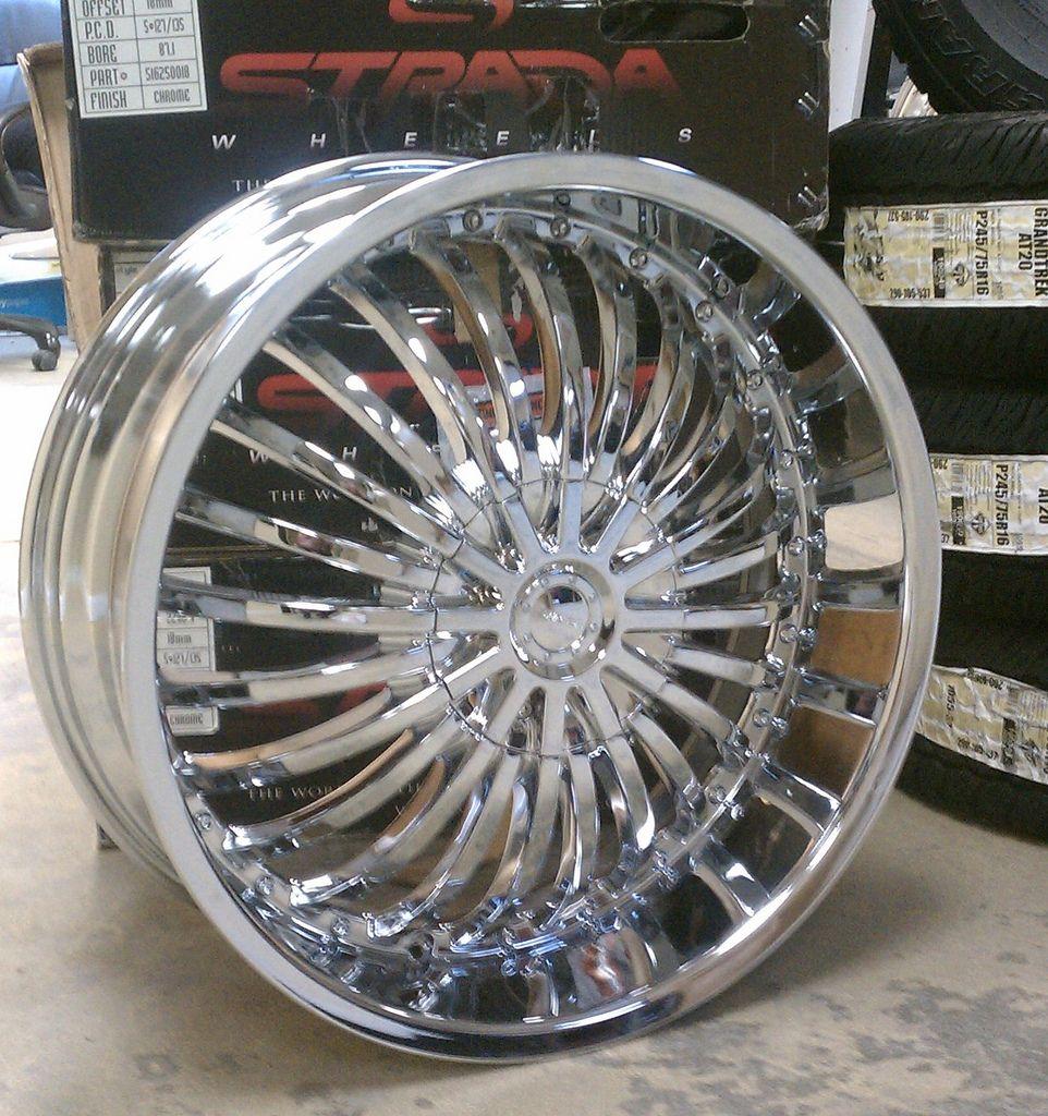 24 wheels chrome - Strada Rims A2i Strada Spina Chrome Wheels 20 22 And 24