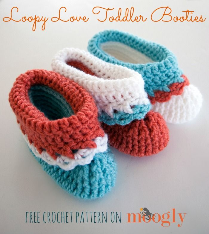 Loopy Love Toddler Booties - new FREE crochet pattern on Moogly ...
