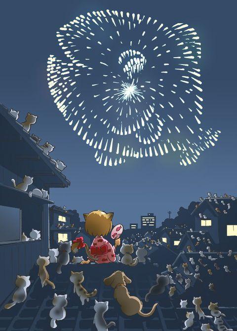"""Résultat de recherche d'images pour """"fireworks manga neko"""""""