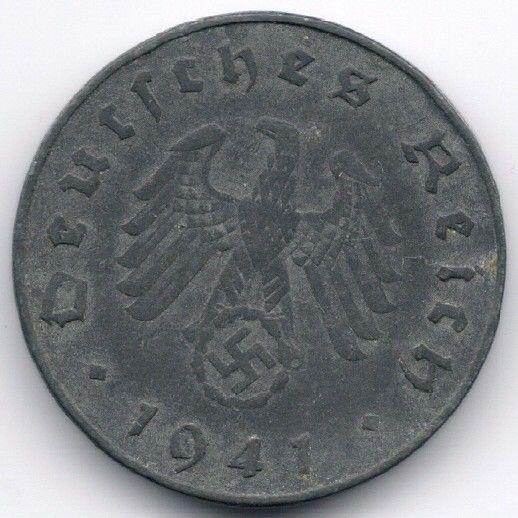 Germany 10 Reichspfennig 1941 J op eBid België