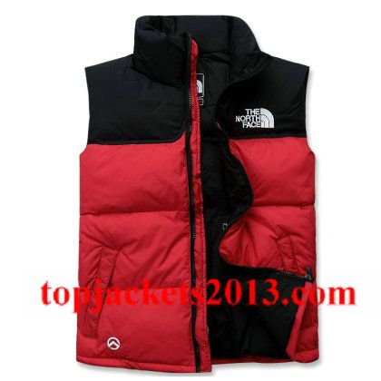 8fecc0064 The North Face Outlet Mens Summit Series 900 Down Vest Red Black ...