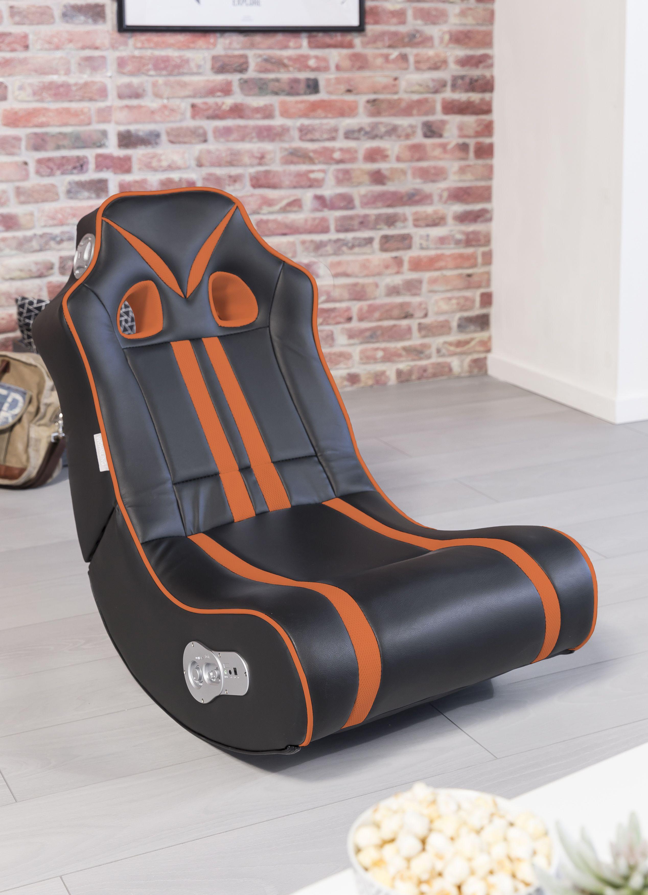 Wohnling Ninja Soundchair schwarz-orange mit Bluetooth WL8.021 aus ...