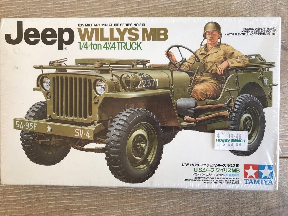Tamiya Kit 35219 Jeep Willys Mb 1 4 Ton 4x4 1 35 Scale New Sealed