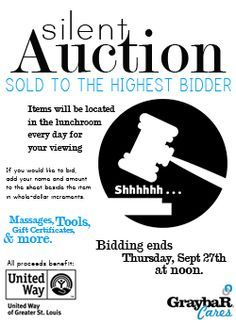 silent auction flyer silent auction flyers charity auctions on