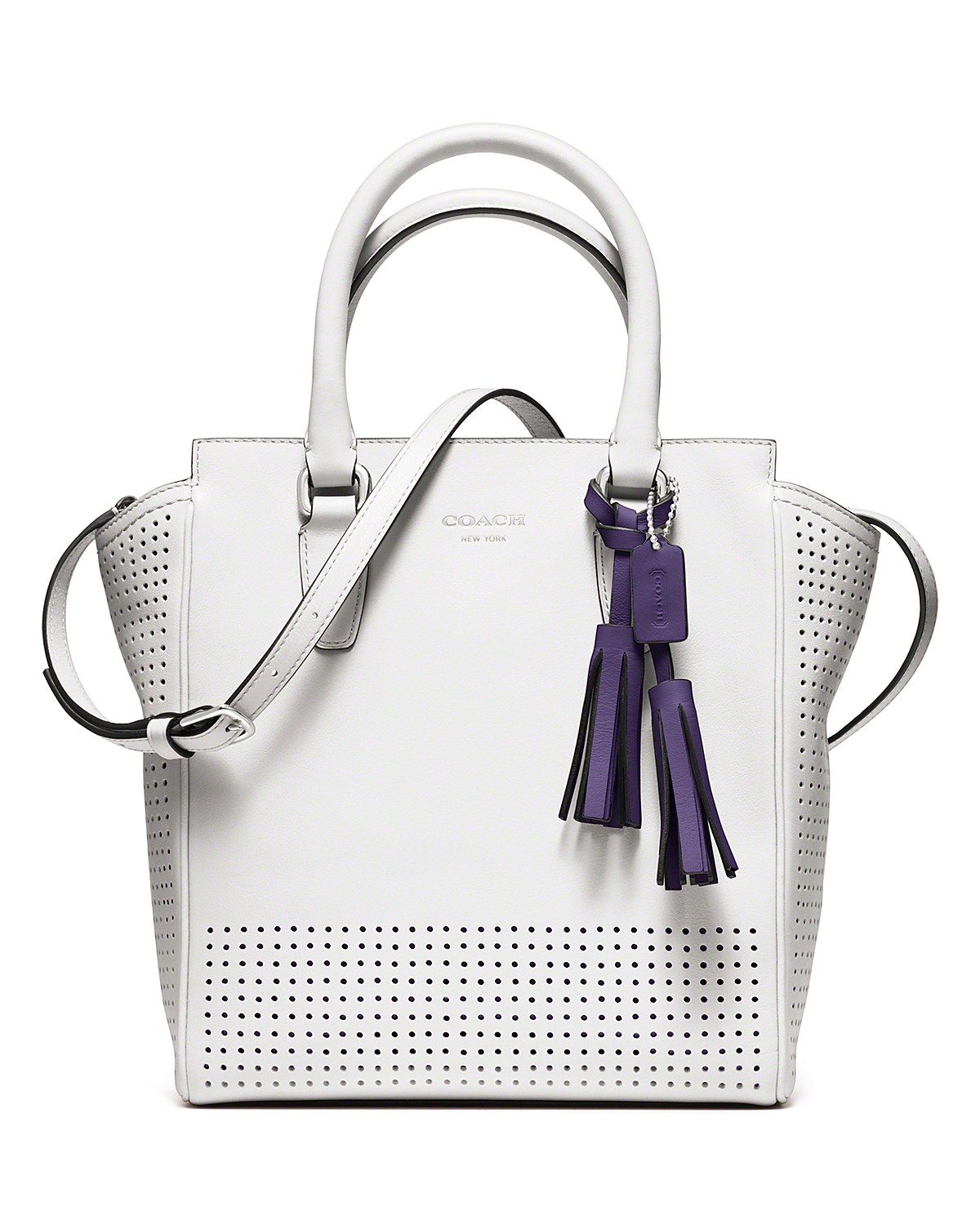 c2a40a2a055c0 COACH Legacy Perforated Mini Tanner Bag | Bloomingdale's | Me ...