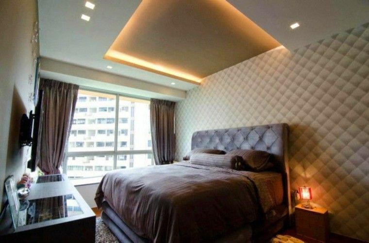 Falso techo de diseño moderno - cincuenta modelos Pinterest - Techos Interiores Con Luces