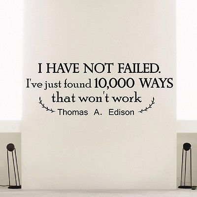 wall decal vinyl sticker thomas a. edison quote i have not bedroom