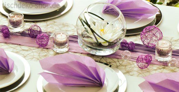 Tischdeko Hochzeit Flieder Wackelvase Deko Tischdeko Hochzeit
