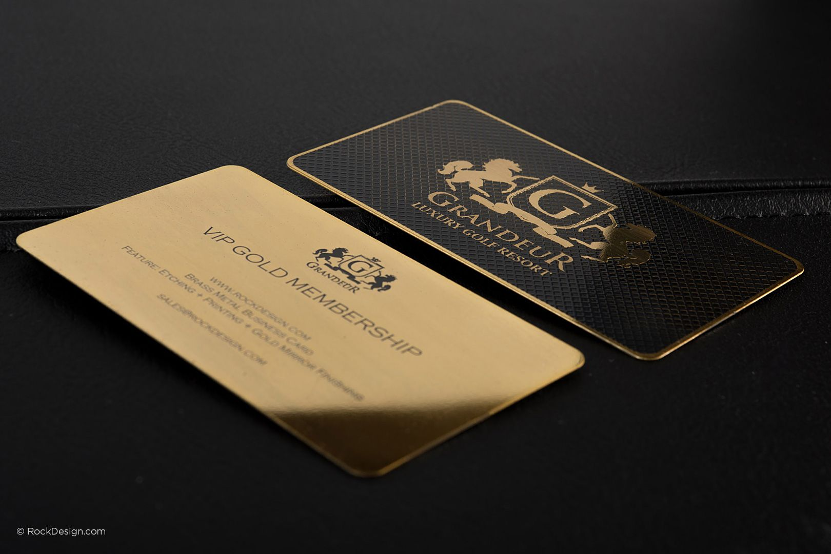Luxury Gold Metal Business Card - Grandeur | RockDesign Luxury ...