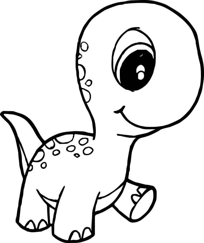 dinosaur cute baby walking coloring page with images
