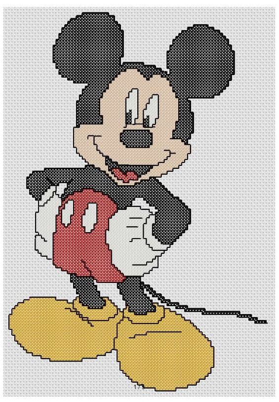 free cross stitch patterns and links: free Mickey Mouse pattern