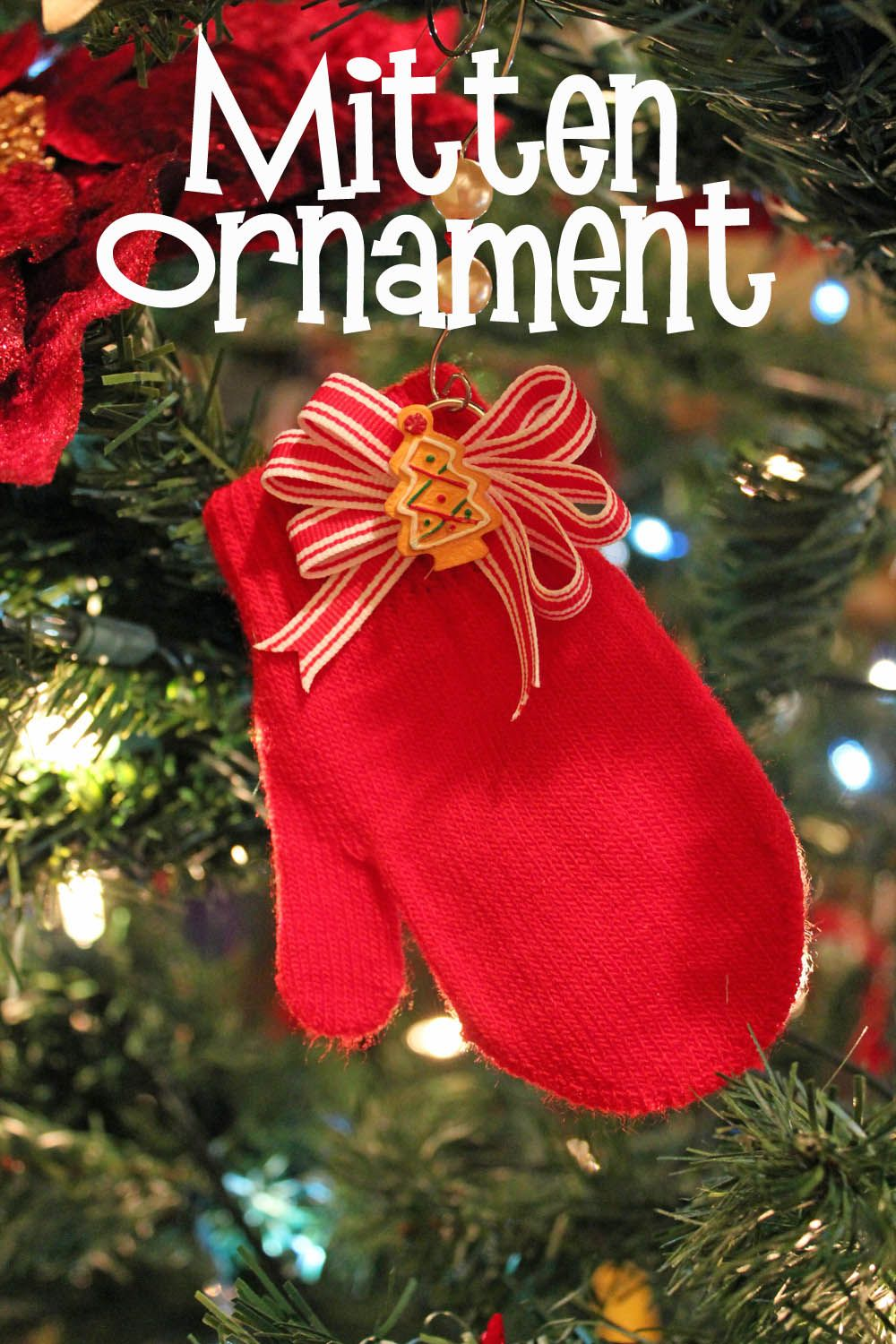 Mitten christmas decorations - Super Simple And Fast Mitten Ornaments Cute Craft Made On The Cheap If You Find