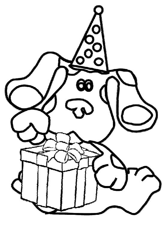 Blues Clues Birthday Coloring For Kids | Elainas 3rd | Pinterest ...