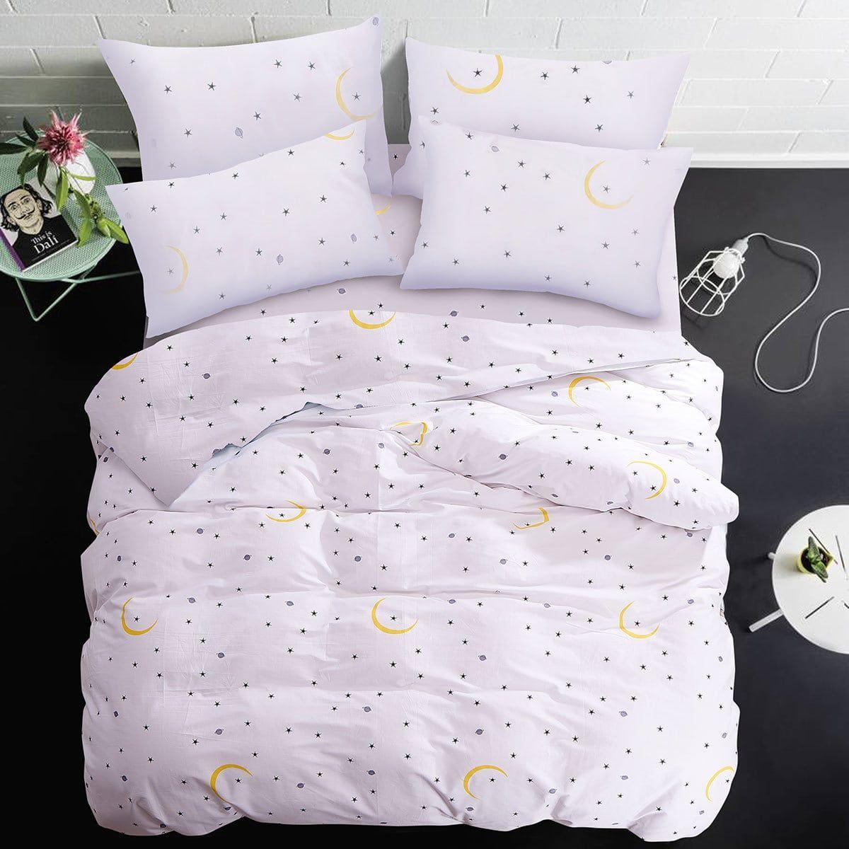 Bettwarenshop Mako Satin Bettwasche Monde Und Sterne Gunstig
