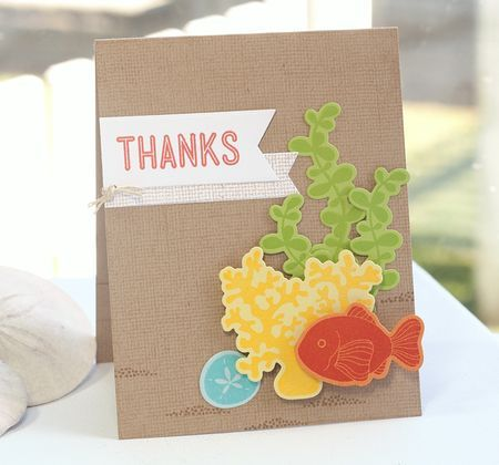 Linen Background, Sea Life, Fishtail Flags Layers STAX Die-namics - Lisa Johnson #mftstamps