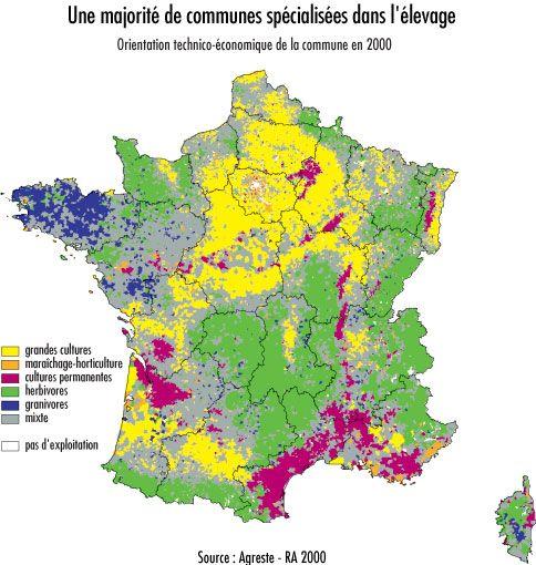 Carte De La France Agricole Repartition Des Systemes Agricoles