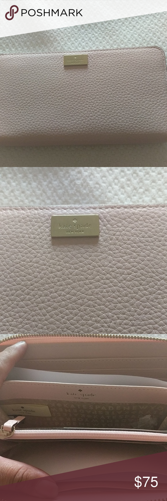 Kate Spade wallet Recently bought, Pink granite wallet never used ..Price is firm I need to sell ?? Bags Wallets