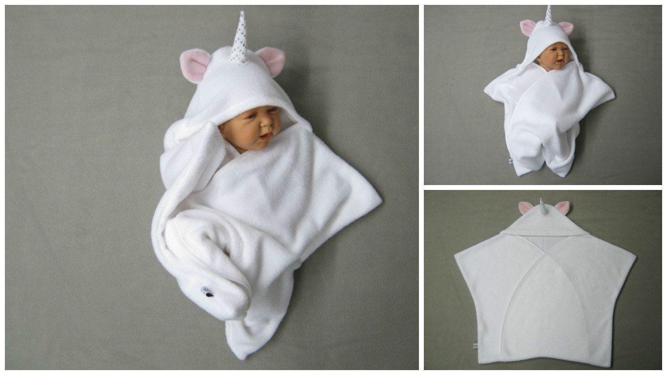 Fleece einschlagdecke baby
