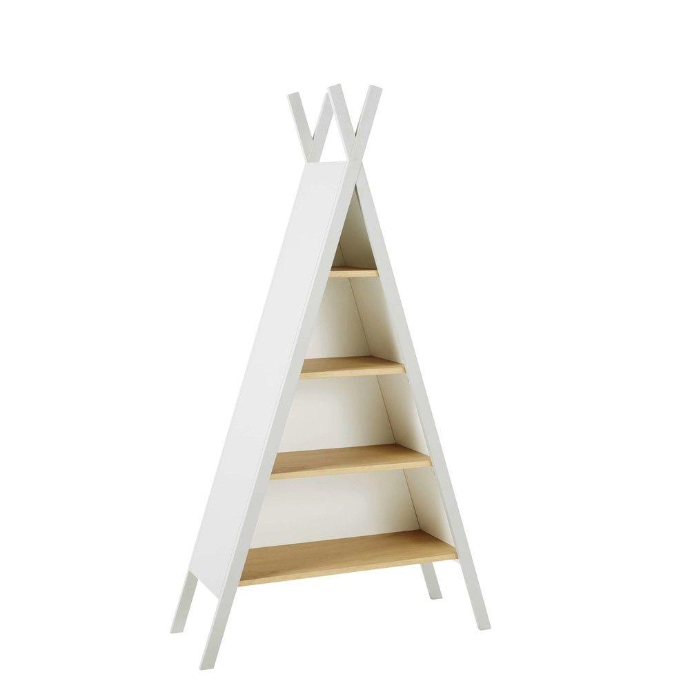 biblioth que tipi enfant en h tre gris clair et blanc. Black Bedroom Furniture Sets. Home Design Ideas