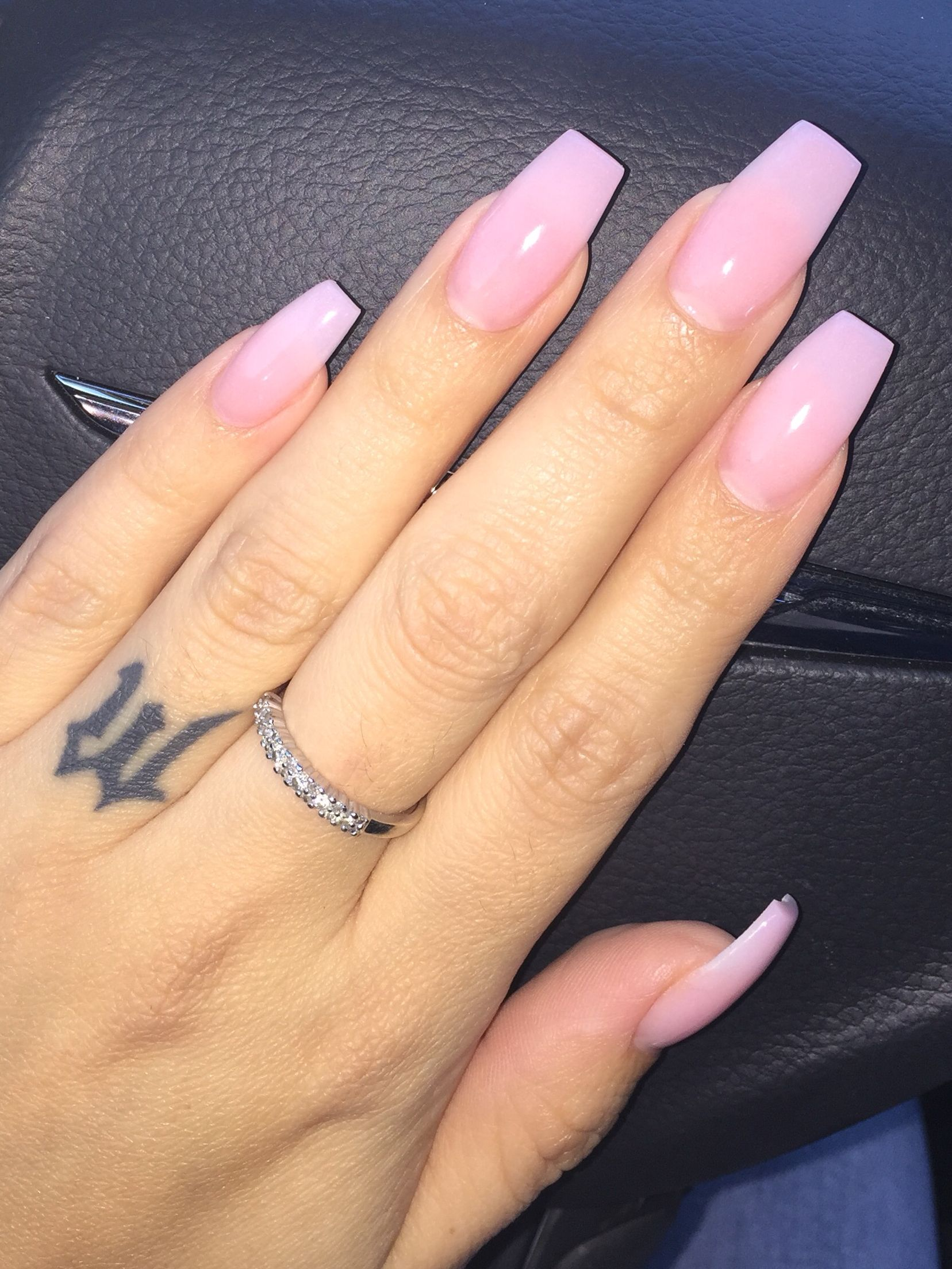Aaasshh Pink Powder Acrylic With Clear Gelish Instagra AshleyVictoriaxo