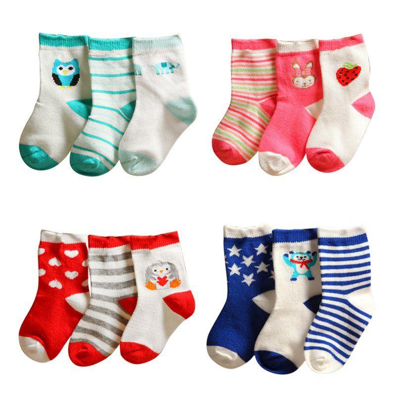 Baby Toddler Cartoon Soft Socks Cotton Socks Kids Ankle Non-Slip Socks