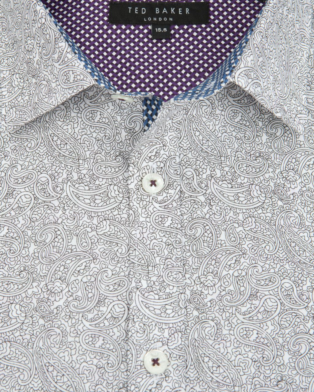 Paisley Print Shirt White Shirts Ted Baker Uk Men Fashion